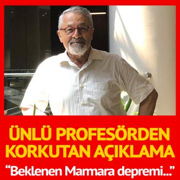 Profesör Naci Görür: Beklenen Marmara depremi öne çekilmiş olabilir