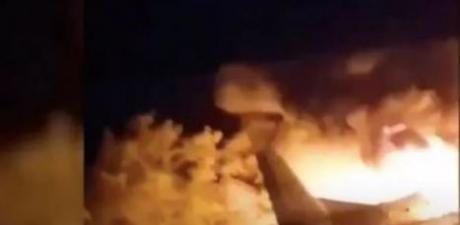 Ukrayna'da askeri uçak düştü!