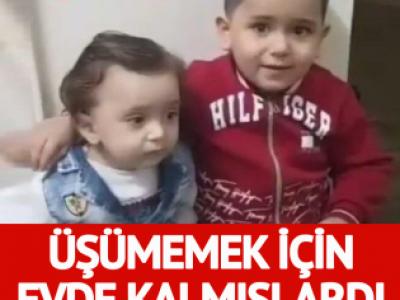 Annelerinin üşümemeleri için evde bıraktığı iki kardeş yanarak öldü