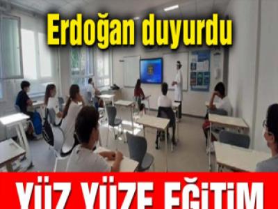 Yüz yüze eğitim nasıl olacak? Cumhurbaşkanı Recep Tayyip Erdoğan açıkladı
