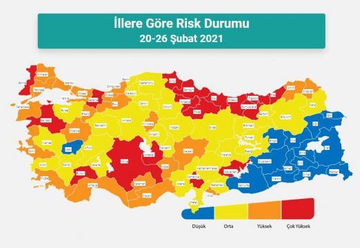 Yeni risk haritası yayımlandı! İşte illerdeki son durum…