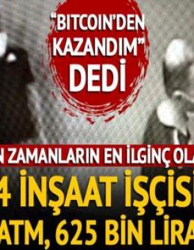 Diyarbakır'da ilginç olay! 4 inşaat işçisi ATM'deki açığı fark edip vurgun yaptı
