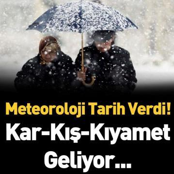 Meteoroloji Genel Müdürlüğü Tarih Vererek Uyardı.