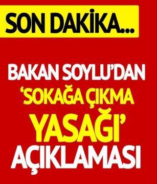 Süleyman Soylu'dan son dakika açıklaması.