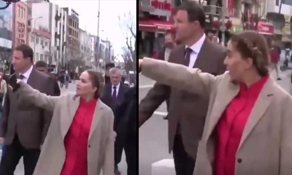 Eski AKP'li vekilin vali eşi vatandaşları sokak ortasında azarladı