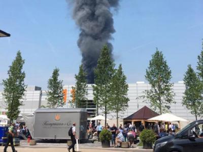 Göçmen yurdunda büyük yangın